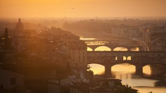 Bridges italy florence rivers firenze toscana tuscany wallpaper