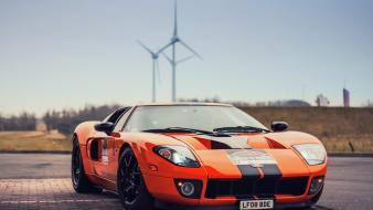 Cars orange muscle tuning ford gt Wallpaper