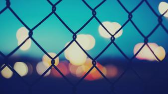 Fences bokeh chain link fence Wallpaper