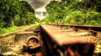 Hdr photography railroads wallpaper