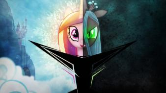 Is magic queen chrysalis two princess cadence Wallpaper