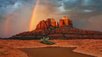Landscapes nature arizona forms cathedral rock wallpaper