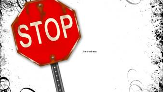 Madness traffic signs stop wallpaper