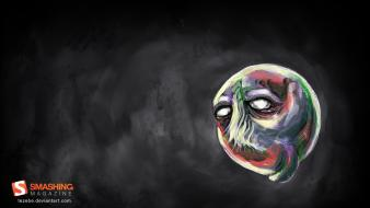 Monsters surreal artwork faces smashing magazine dark background wallpaper