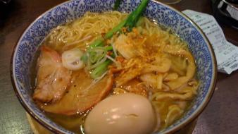 Noodles soup ramen bowl egg japanese food Wallpaper