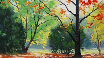 Paintings landscapes nature autumn (season) drawings Wallpaper