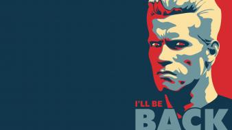 Quotes arnold schwarzenegger satire posters vector art Wallpaper