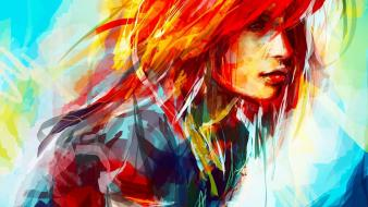 Redheads people artwork drawings alice x zhang Wallpaper