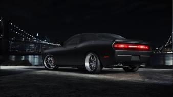 Rims dodge challenger srt8 black cars cities wallpaper
