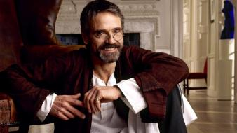 Sitting actors jeremy irons men with glasses wallpaper