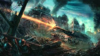 Soldiers warfare command and conquer tanks wallpaper
