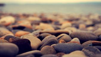 Stones pebbles depth of field wallpaper