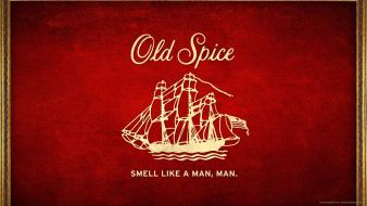 Text old spice advertisement cologne red background wallpaper