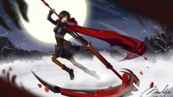 Through clothing sky skies rwby ruby (rwby) wallpaper