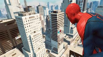 Video games spider-man skyscrapers the amazing wallpaper