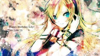 Vocaloid blue eyes long hair lily (vocaloid) wallpaper