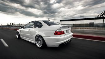 White cars motion blur bmw m3 races wallpaper