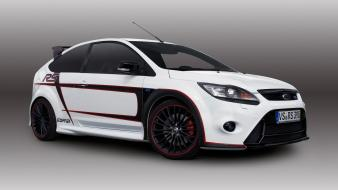 White cars racing ford focus rs wallpaper