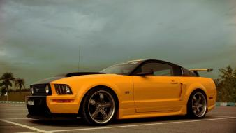Yellow cars vehicles ford mustang wallpaper