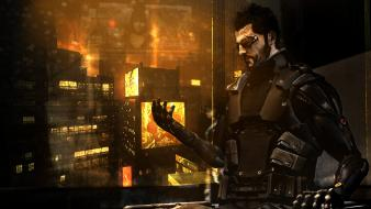 3d deus ex: human revolution fan art wallpaper