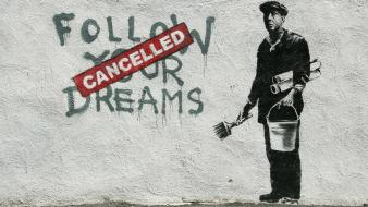 Abstract men funny usa banksy dreams street art wallpaper