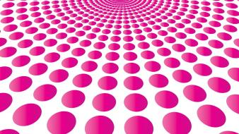 Abstract pink circles dots blast wallpaper