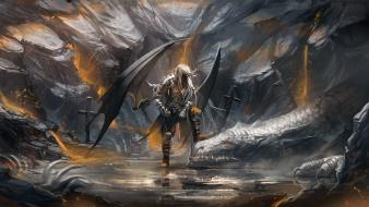 Artwork warriors claws dragon slayer swords armour wallpaper