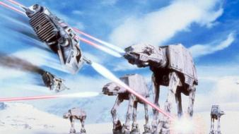 Artwork wars: the empire strikes back at-st wallpaper