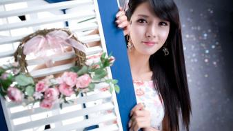 Asians korean black hair cha sun hwa wallpaper