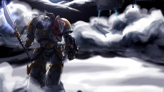 Cartoons robots armor science fiction warriors wallpaper