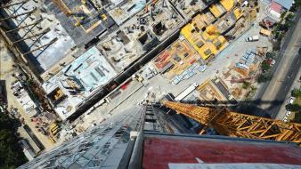 Cityscapes streets skyscrapers construction site wallpaper