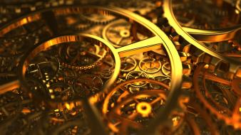Clocks mechanical wallpaper