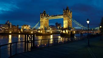 Clouds night england london bridges rivers Wallpaper