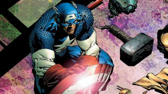 Comics captain america superheroes marvel Wallpaper