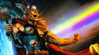 Comics thor marvel mjolnir wallpaper