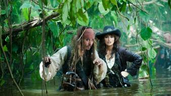 Depp captain jack sparrow on stranger tides wallpaper