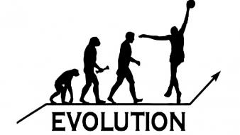 Evolution basketball player wallpaper
