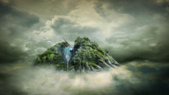 Eyes artistic fog surrealism surreal unreal wallpaper