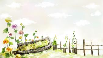 Garden drawings Wallpaper