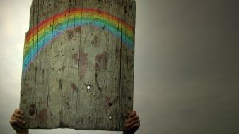 Humor rainbows wallpaper