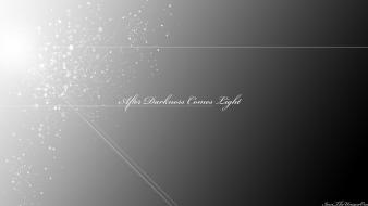 Light text darkness artwork simple after comes wallpaper