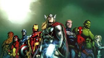 Man comics thor spider-man captain america marvel Wallpaper