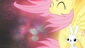 My little pony fluttershy ponies angel wallpaper