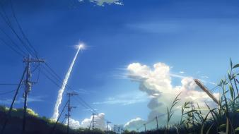 Nature makoto shinkai rocket contrails wallpaper