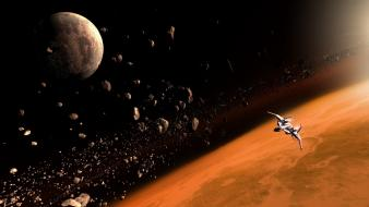 Outer space spaceships Wallpaper