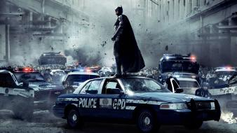 Police film the dark knight rises cities wallpaper
