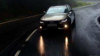 Rain cars seasons audi drive suv wallpaper