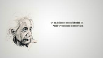 Scientists wise life simple wisdom famous quote wallpaper