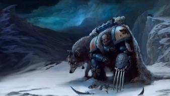 Space marines fantasy art claws wolves warhammer 40,000 wallpaper