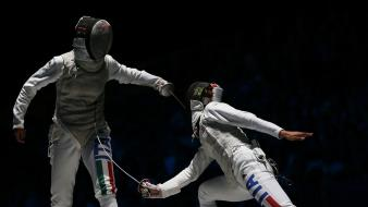 Sports fight fencing olympics 2012 wallpaper